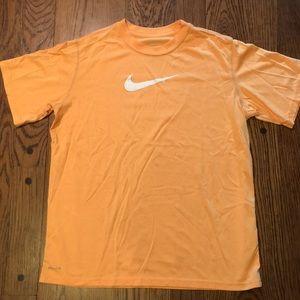 Boys XL Nike Dri Fit orange short sleeve shirt